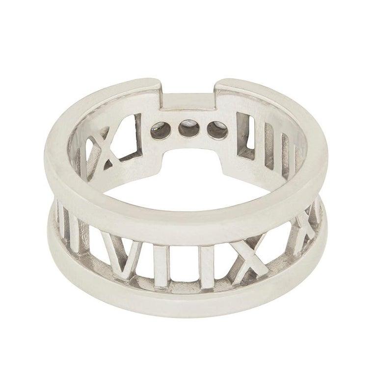 Round Cut Tiffany & Co. 'Atlas' Open Style Three-Stone Diamond Ring For Sale