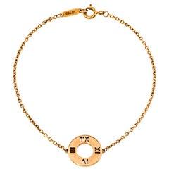 Tiffany & Co. Atlas Pierced Diamond 18K Rose Gold Bracelet