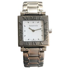 Tiffany & Co. Atlas Stainless Steel, Stunning White Dial, Mint Condition