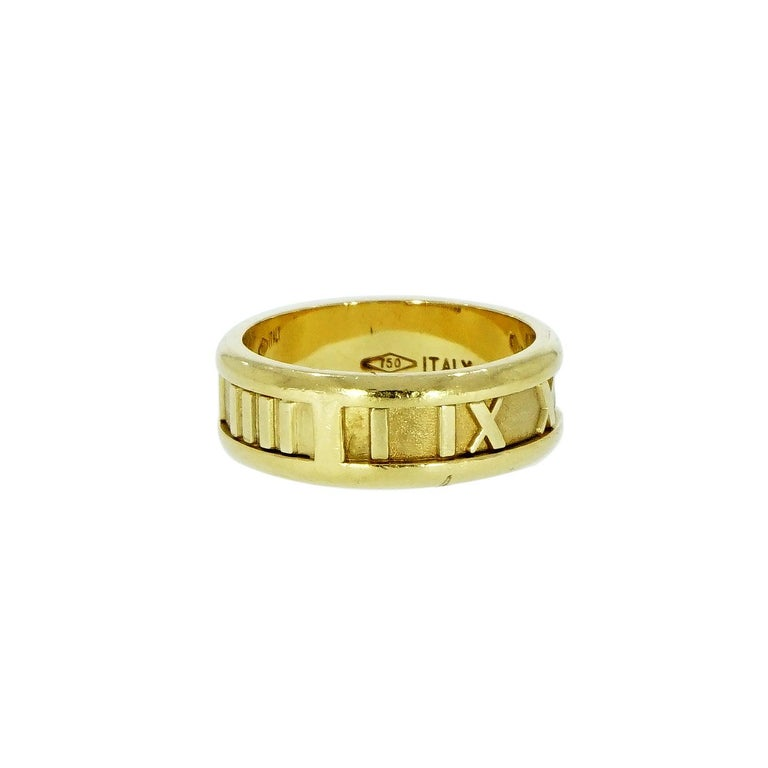 Modern Tiffany & Co. Atlas Yellow Gold Band For Sale