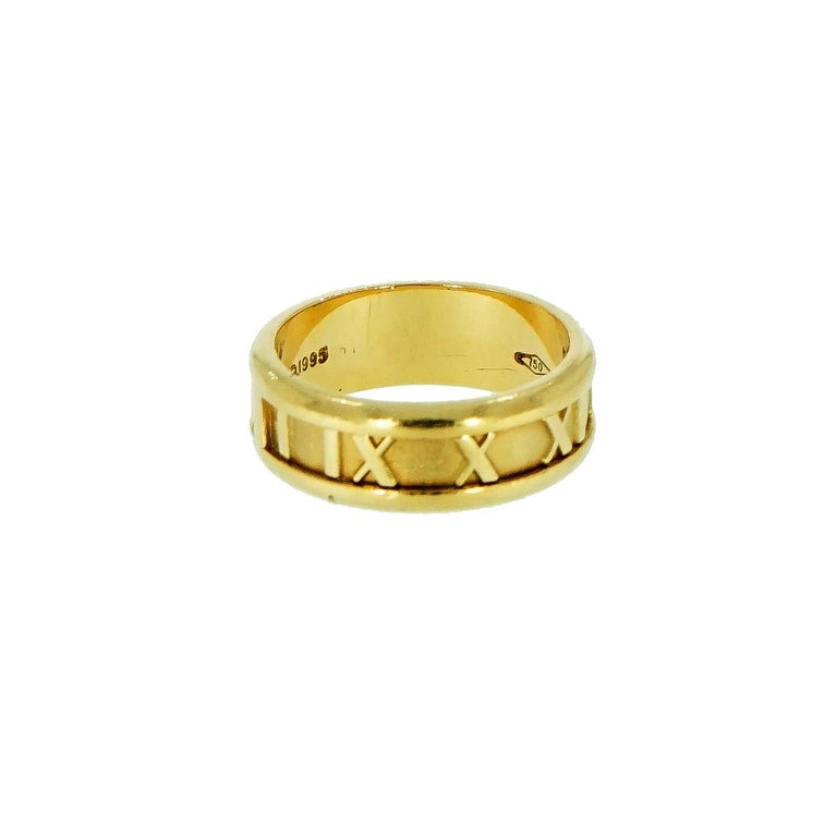 Women's or Men's Tiffany & Co. Atlas Yellow Gold Band For Sale