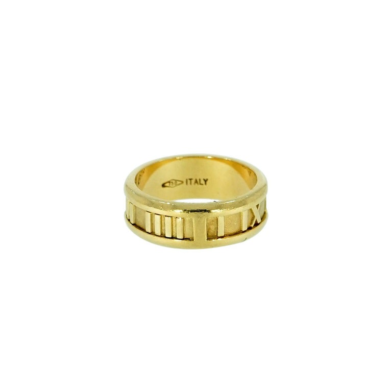 Tiffany & Co. Atlas Yellow Gold Band For Sale 1
