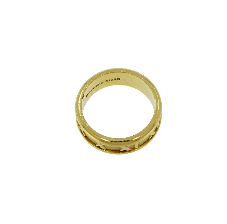Tiffany & Co. Atlas Yellow Gold Band For Sale 2