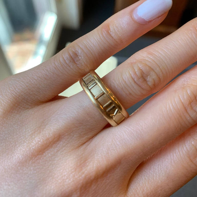 Tiffany & Co. Atlas Yellow Gold Band For Sale 3