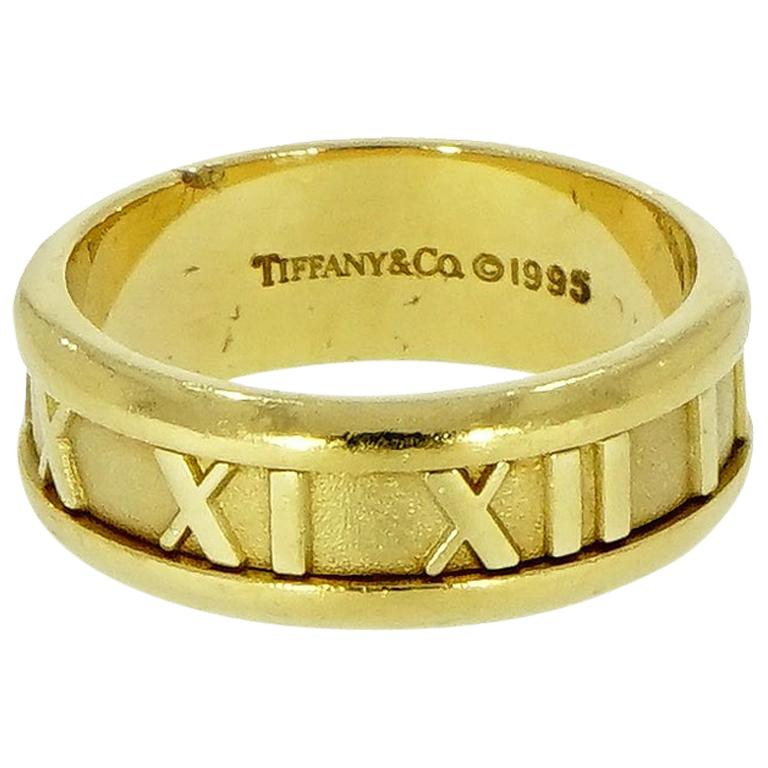 Tiffany & Co. Atlas Yellow Gold Band For Sale