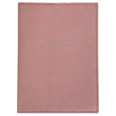 Tiffany & Co. Baby Pink Leather Passport Holder Cover