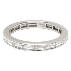 Tiffany & Co. Baguette Diamond Eternity Wedding Ring in Platinum 1.10 Carat