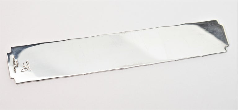 Tiffany & Co. Bamboo Sterling Silver Bookmarker For Sale 1