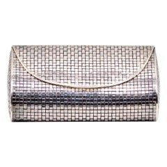 Tiffany & Co. Basketweave Motif Silver Evening Purse