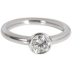 Tiffany & Co. Bezel Diamond Engagement Ring in Platinum D VVS2 0.40 Carat