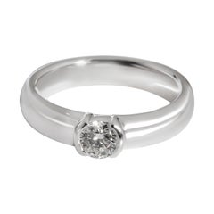 Tiffany & Co. Bezel Diamond Solitaire Ring in Platinum 0.32 CTW