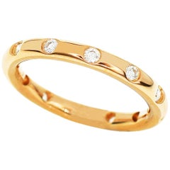 Tiffany & Co. 18 Karat Pink Gold Bezet Diamonds Ring