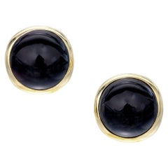 Tiffany & Co. Black Onyx Yellow Gold Earrings