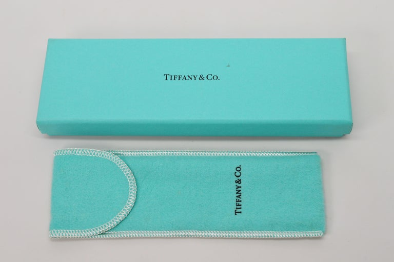 Women's Tiffany & Co. Blue Diamond Structure Ball Point Pen For Sale
