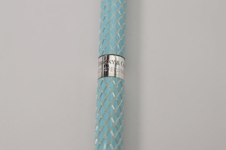 Tiffany & Co. Blue Diamond Structure Ball Point Pen For Sale 3