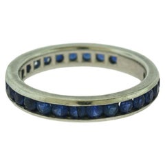 Tiffany & Co. Blue Sapphire Platinum Eternity Band