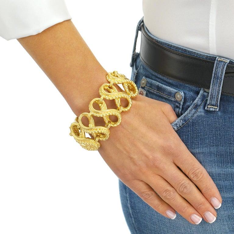 Women's or Men's Tiffany & Co. Braided Gold Bracelet For Sale