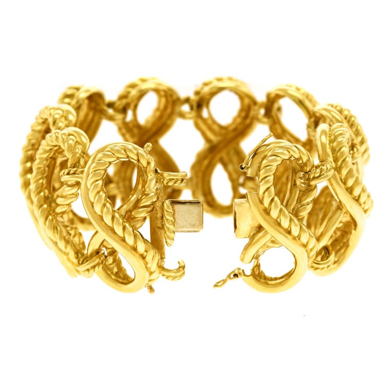 Tiffany & Co. Braided Gold Bracelet For Sale 3
