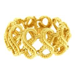 Tiffany & Co. Braided Gold Bracelet