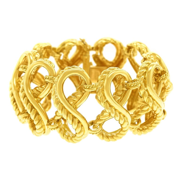 Tiffany & Co. Braided Gold Bracelet For Sale