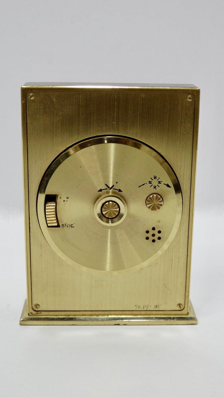 Gray Tiffany & Co. Brass Desk Clock  For Sale
