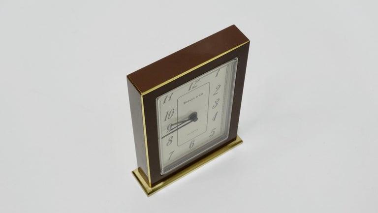 Tiffany & Co. Brass Desk Clock  For Sale 1
