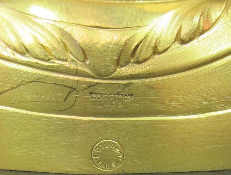 Tiffany & Co. Bronze Clock Ensemble, E. Colin & Cie For Sale 5