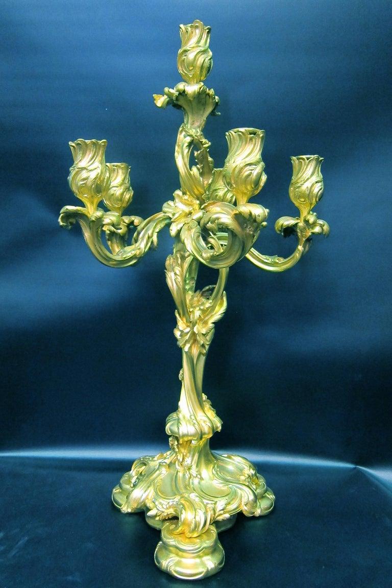 Tiffany & Co. Bronze Clock Ensemble, E. Colin & Cie For Sale 8