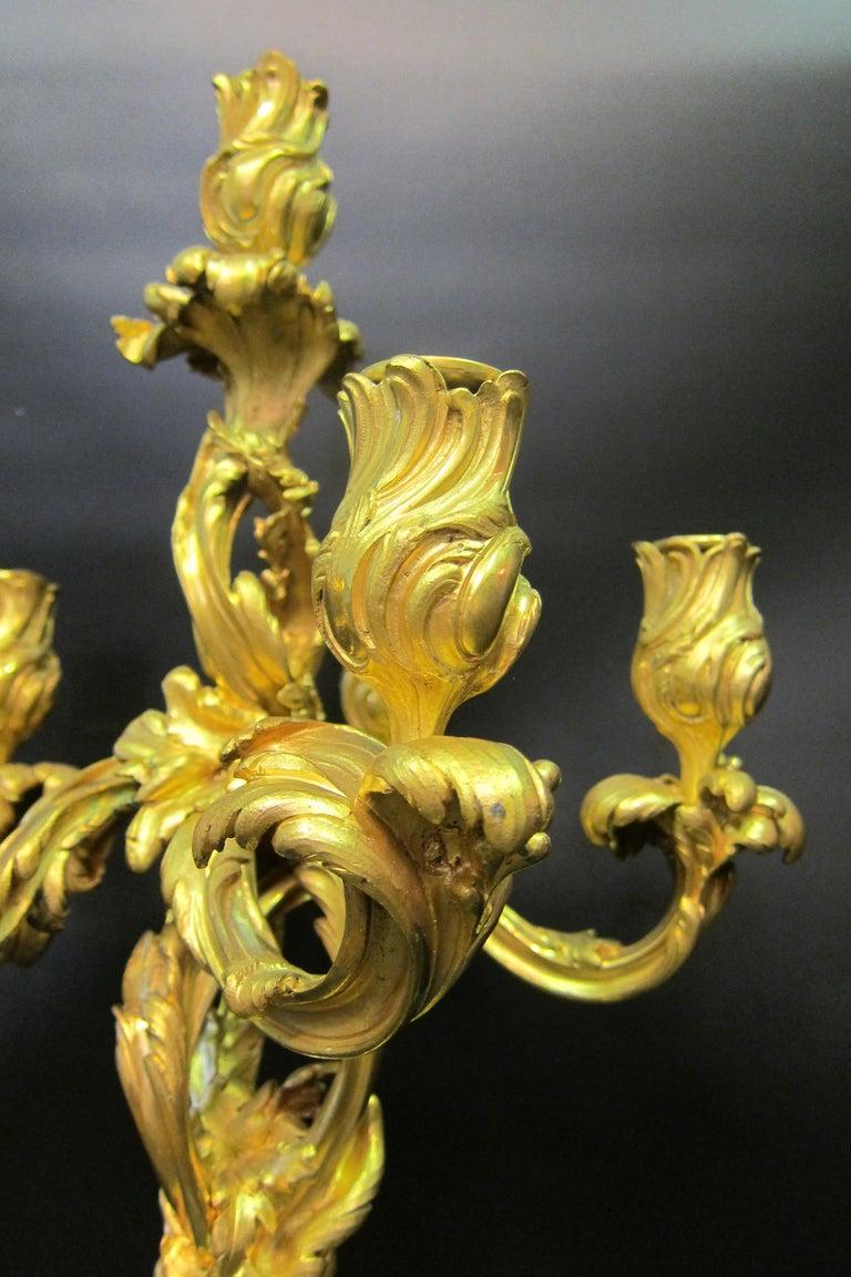 Tiffany & Co. Bronze Clock Ensemble, E. Colin & Cie For Sale 9