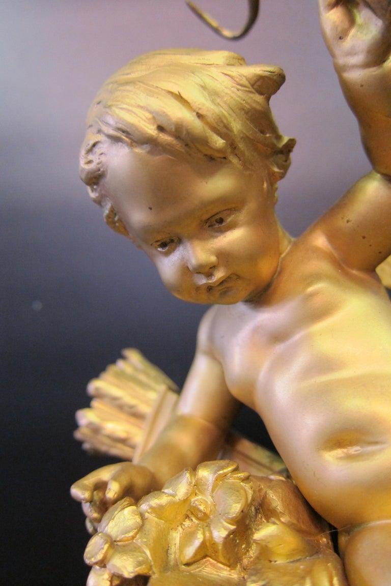 Tiffany & Co. Bronze Clock Ensemble, E. Colin & Cie In Good Condition For Sale In Bronx, NY
