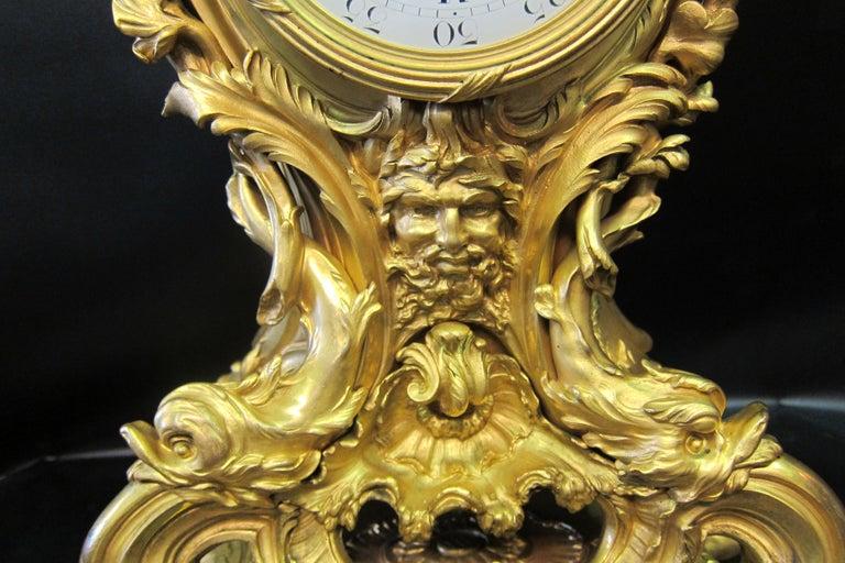 20th Century Tiffany & Co. Bronze Clock Ensemble, E. Colin & Cie For Sale