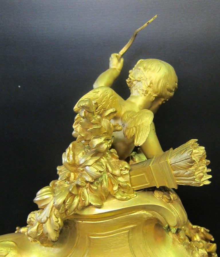 Tiffany & Co. Bronze Clock Ensemble, E. Colin & Cie For Sale 2