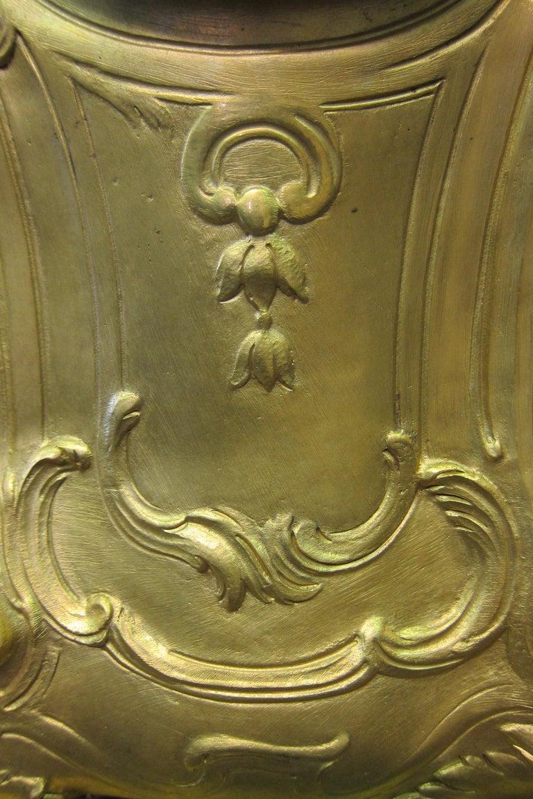 Tiffany & Co. Bronze Clock Ensemble, E. Colin & Cie For Sale 3