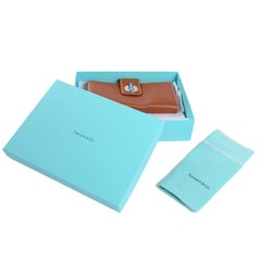 Tiffany & Co Brown Leather Wallet New in Original Blue Box With Dustbag