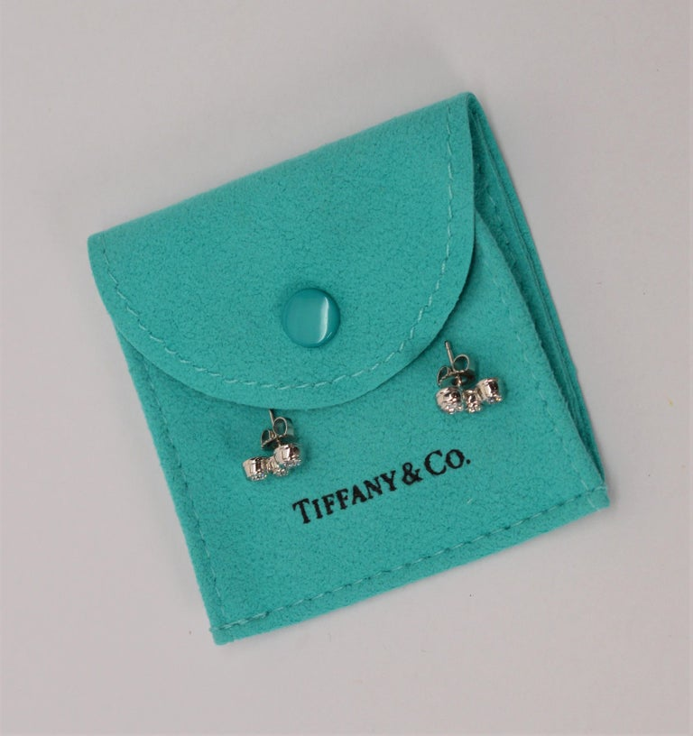 Tiffany & Co. Bubble Diamond Platinum Earrings In New Condition For Sale In Mount Kisco, NY