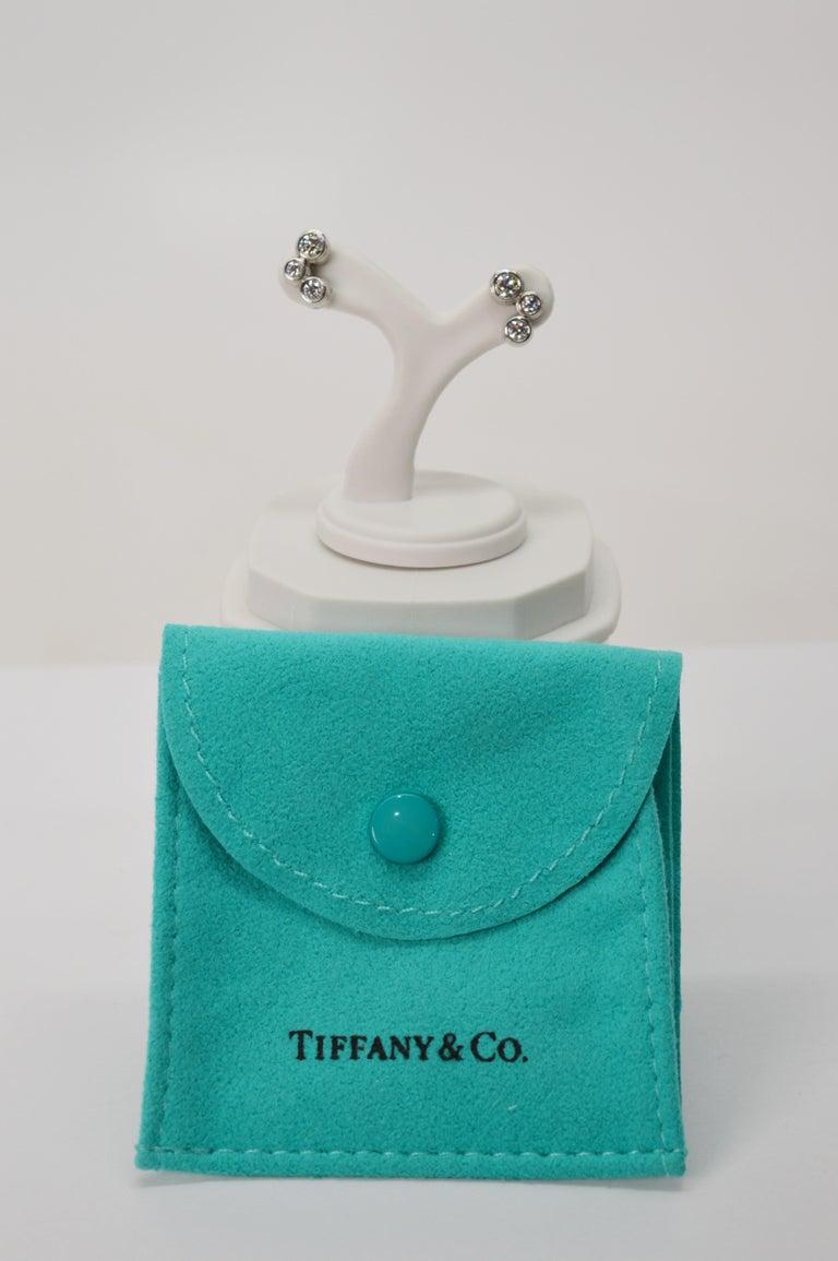 Women's Tiffany & Co. Bubble Diamond Platinum Earrings For Sale