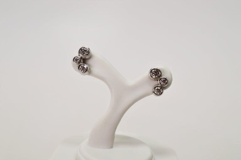 Tiffany & Co. Bubble Diamond Platinum Earrings For Sale 1