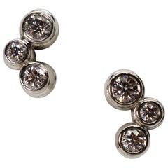 Tiffany & Co. Bubble Diamond Platinum Earrings