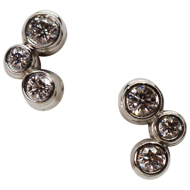 Tiffany & Co. Bubble Diamond Platinum Earrings For Sale
