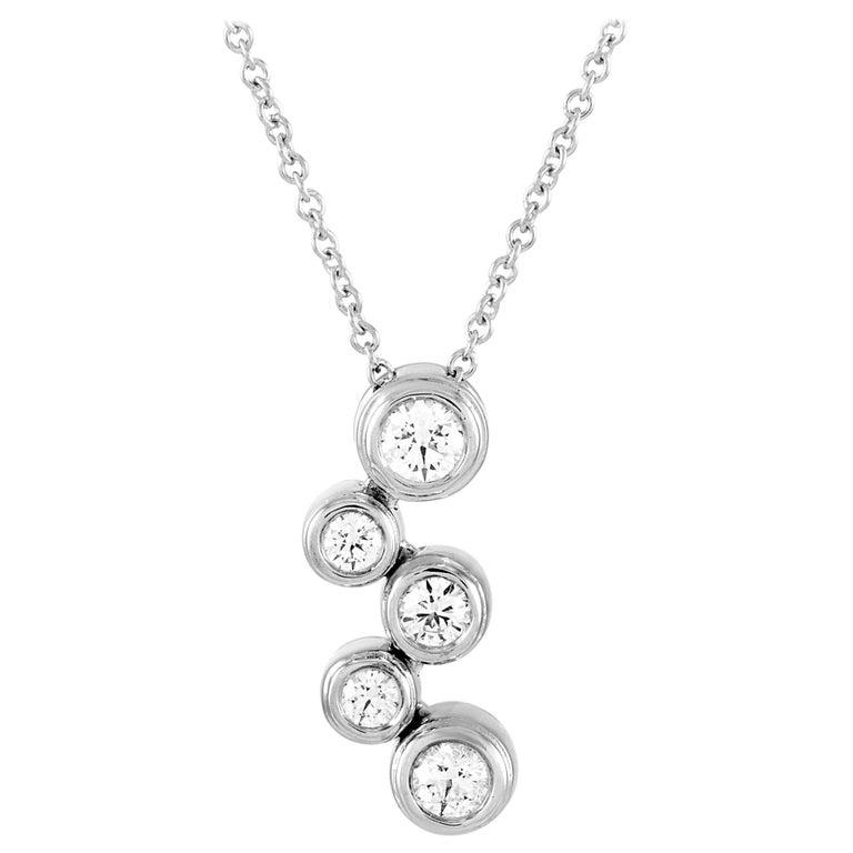 Tiffany & Co. Bubble Platinum 0.50 Carat Diamond Pendant Necklace For Sale