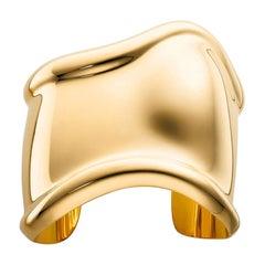 Tiffany & Co by Elsa Peretti 18k Gold Medium Bone Cuff, Size Medium