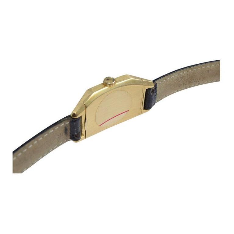 Tiffany & Co. by International Watch Co. 18 Karat Gold Art Deco Handmade Watch For Sale 7