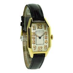 Tiffany & Co. by International Watch Co. 18 Karat Gold Art Deco Handgefertigte Uhr