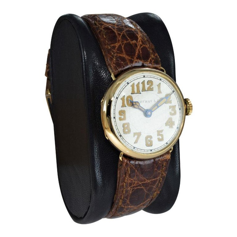 Tiffany & Co. by Longines 18 Karat Gold from 1917 Art Deco Watch 100 Years Old In Excellent Condition For Sale In Venice, CA