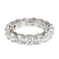 Tiffany & Co. Certified Diamond Eternity Band in Platinum 5.41 Carat