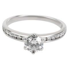 Tiffany & Co. Channel Diamond Engagement Ring in Platinum '0.62 Carat F/VVS1'