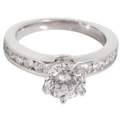 Tiffany & Co. Channel Diamond Engagement Ring in Platinum F VS2 1.52 CTW