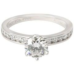 Tiffany & Co. Channel Diamond Engagement Ring in Platinum F VVS2 0.78 Carat
