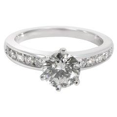 Tiffany & Co. Channel Diamond Engagement Ring in Platinum I VVS1 1.6 Carat