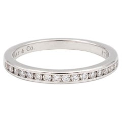 Tiffany & Co. Platinum Channel Half Circle Diamond Eternity Band .17 Ct 2.3 mm